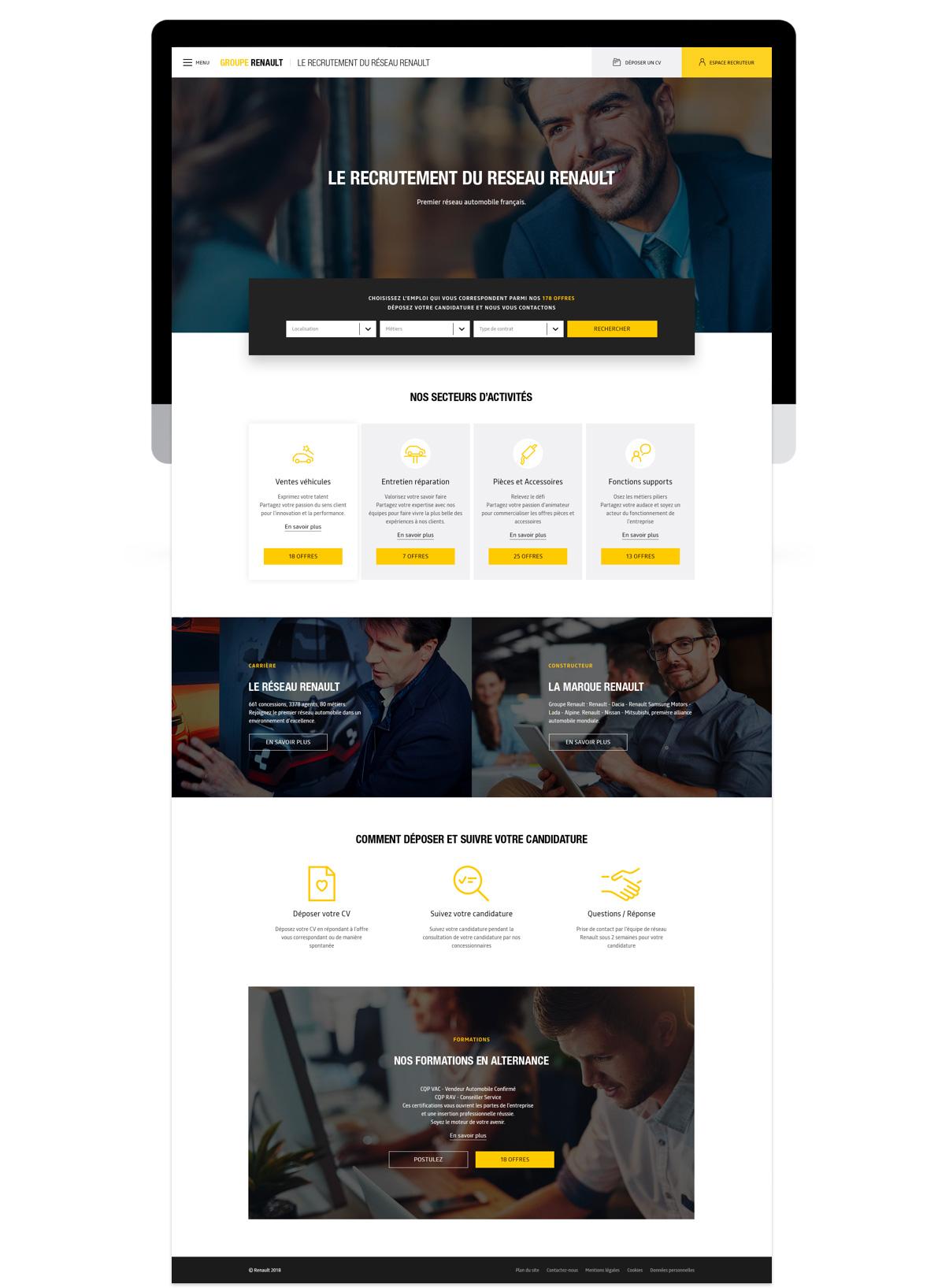 Refont du site RH du Groupe Renault par tequilarapido