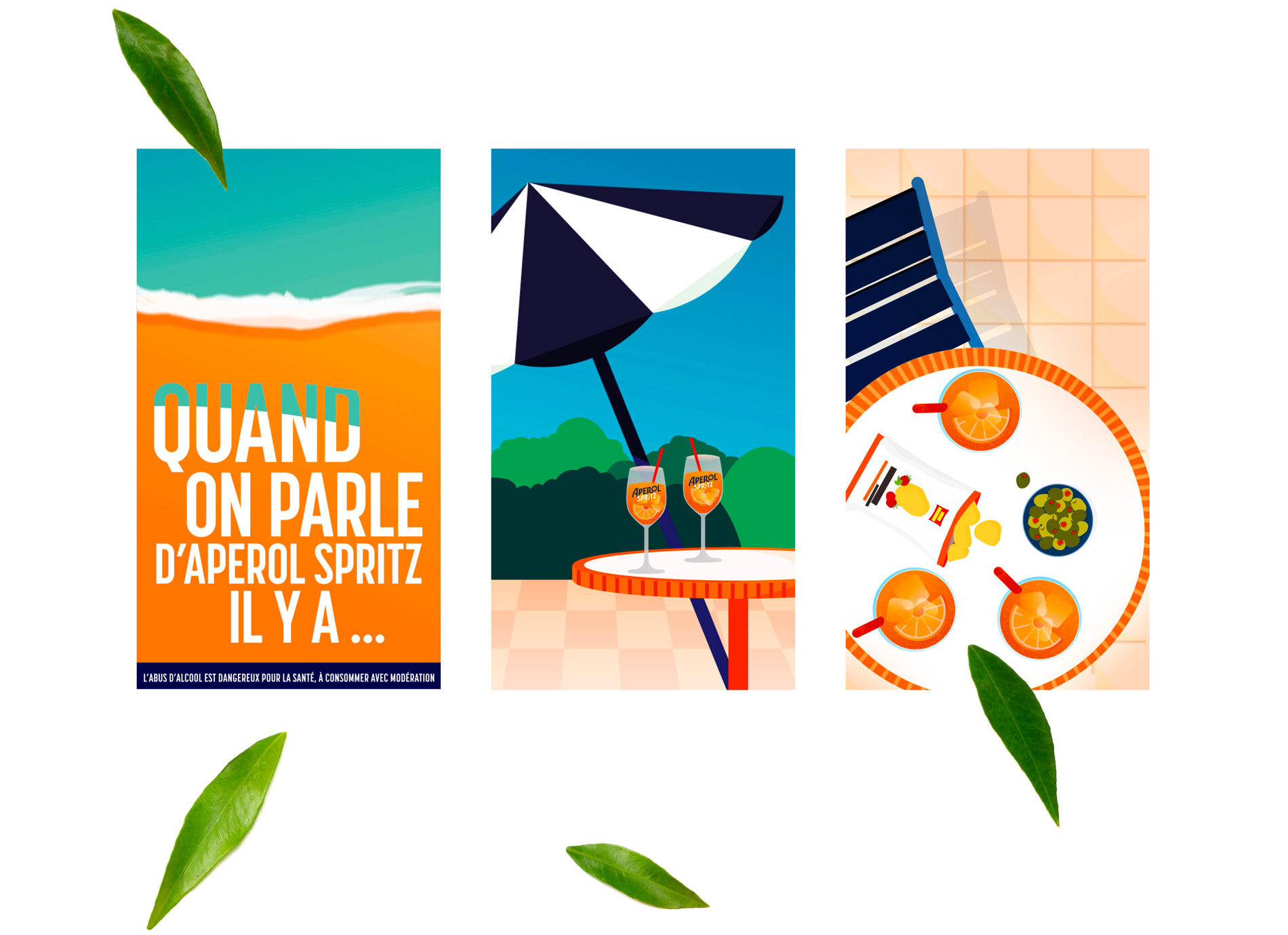 Animation social media pour Aperol Spritz par tequilarapido