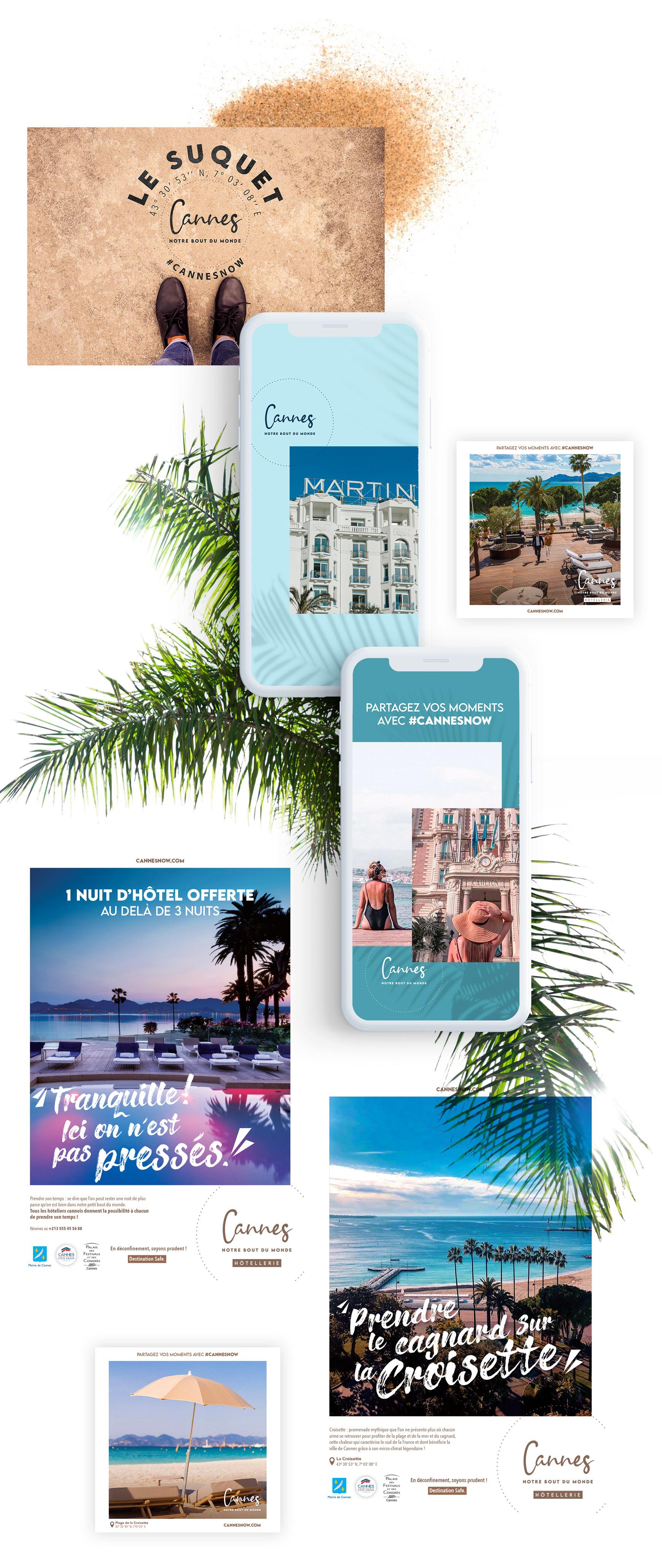 Campagne 360 pour la Ville de Cannes par tequilarapido