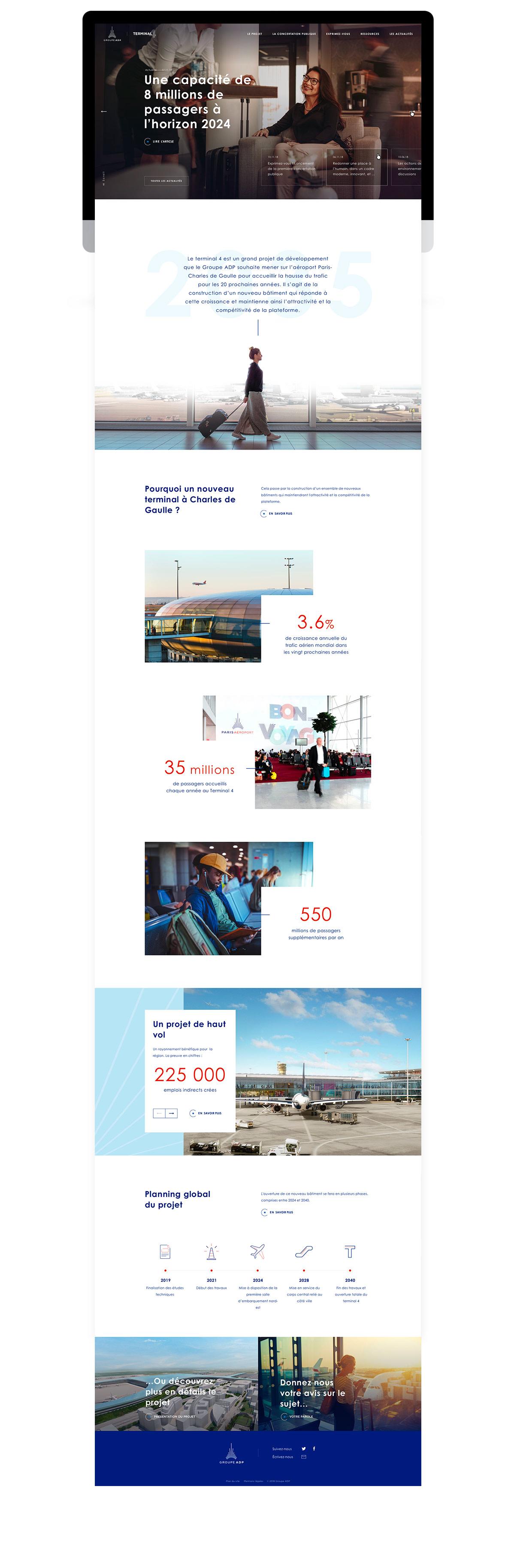 Site d'information et de concertation pour ADP Terminal 4 par tequilarapido