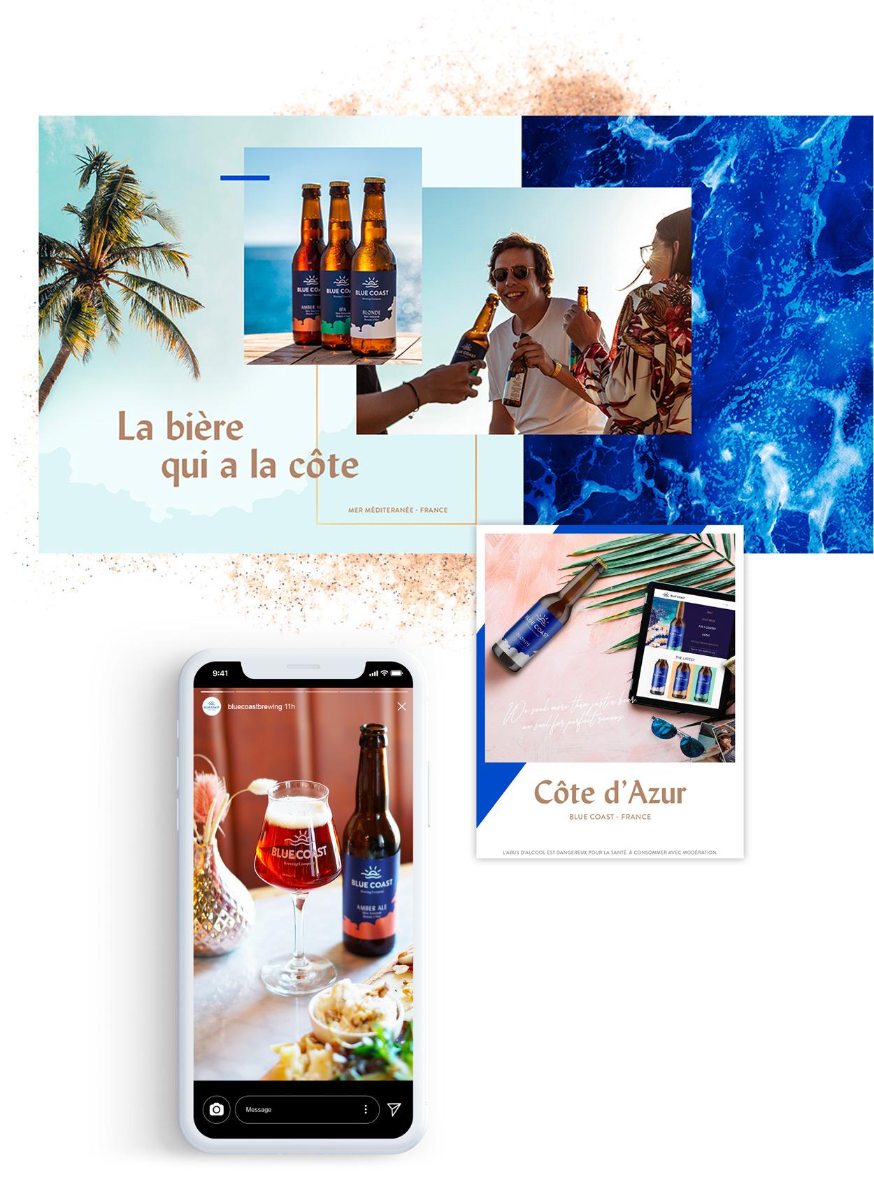 stratégie social media Blue Coast par tequilarapido