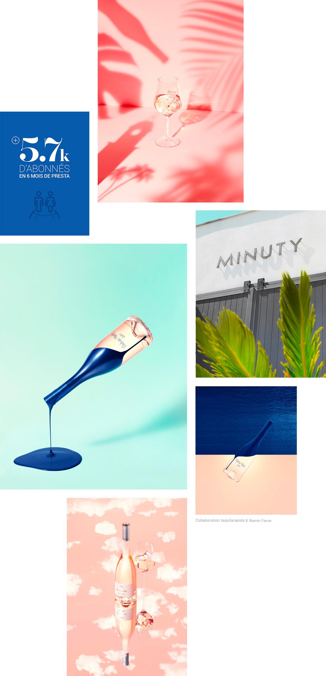 Gestion de l'écosystème social media de Château Minuty par tequilarapido
